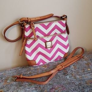 Dooney and bourke leather hot pink crossbody purse